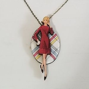 Jewelry - ADORABLE vintage lady necklace from Modcloth